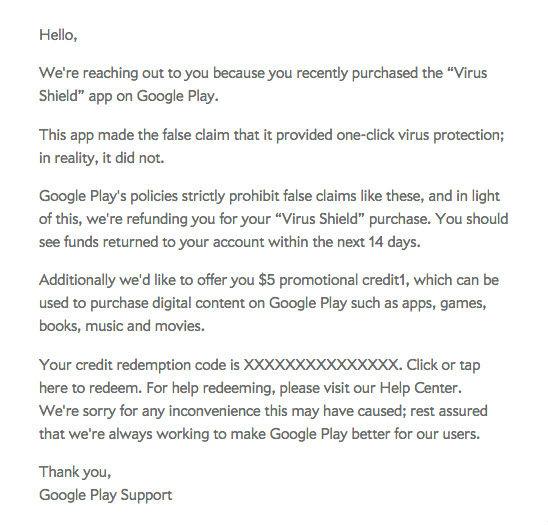 Carta de Google a sus usuarios