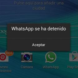 Un error en WhatsApp Android provoca que deje de funcionar