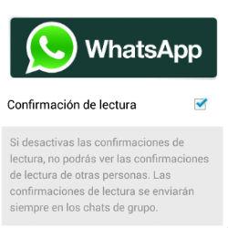 WhatsApp ya permite configurar la confirmación de lectura