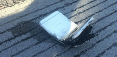 iPhone 6 doblado tras salir ardiendo