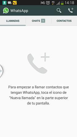 Llamadas telefónicas a través de WhatsApp