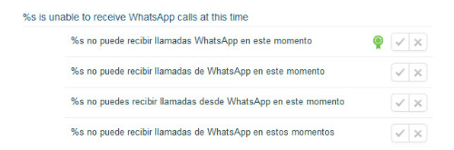 Llamadas a través de WhatsApp