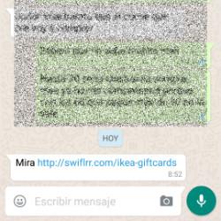 Nuevo malware a través de WhatsApp. Mira éste enlace