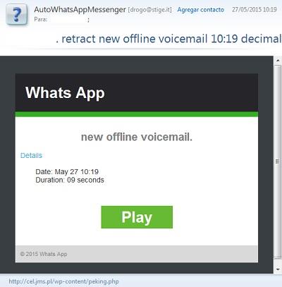 Mensaje de voz false de WhatsApp