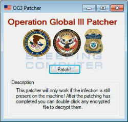 Operation Global 3, nuevo ransomware para windows solucionado
