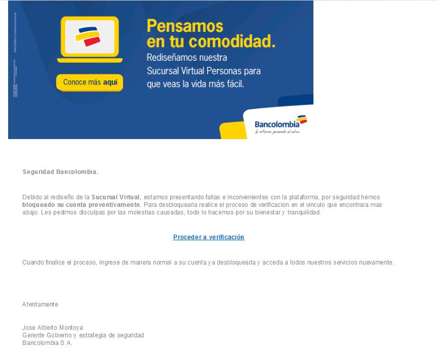 Phishing Bancolombia