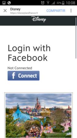 Página de DisneyLand France
